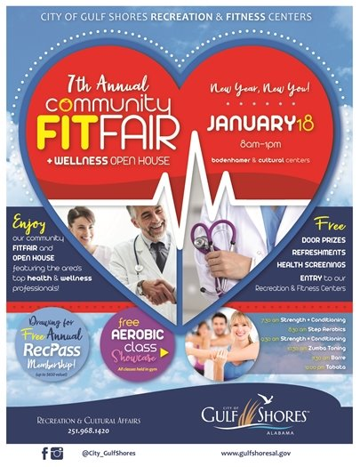 Fit Fair on January 18 flyer